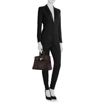 9feebae7650 Perfect Replica Hermes Birkin 35 cm handbag in brown togo leather ...