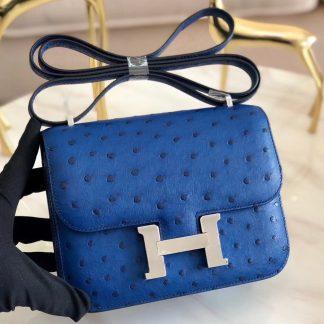 2e829f66e08 Paris Hermes Blue Lin Constance MM 24cm Crocodile Bag Anaheim, CA ...